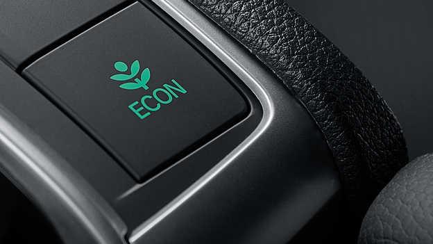 Detailný záber na spínač elektronického režimu ECON