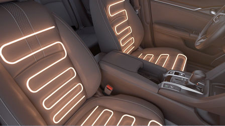 Vyhrievané zadné sedadlá