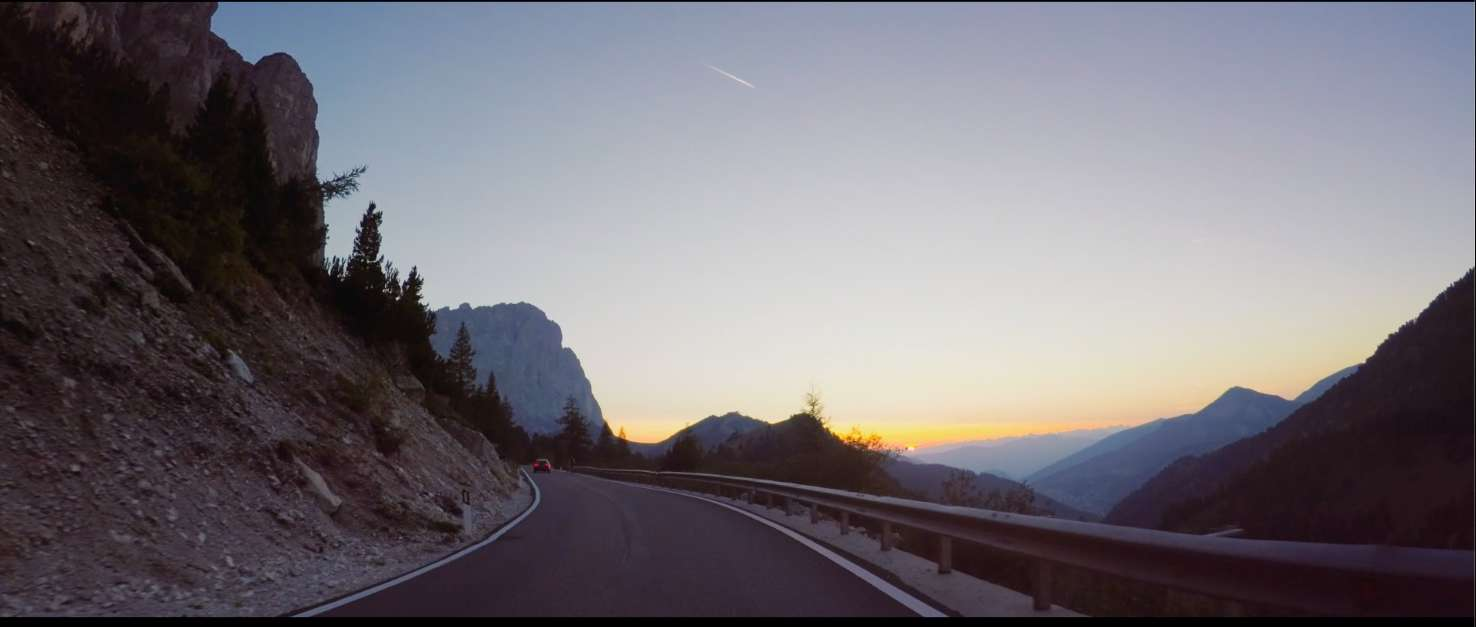 Landscape scene from Be Moved Again campaign film with Honda model.