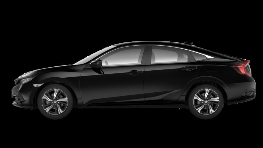 Bočný pohľad na model Civic sedan.