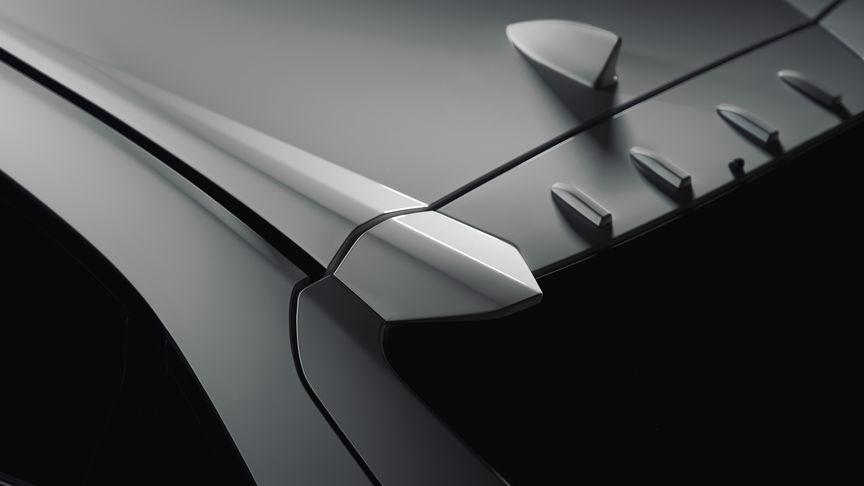 Detailný záber na generátory vírenia na modeli Honda Civic Type R.
