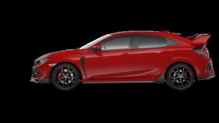 Pohľad na bočnú stranu vozidla Honda Civic Type R.