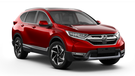 Ilustrácia sporovnaním modelov Honda CR-V.