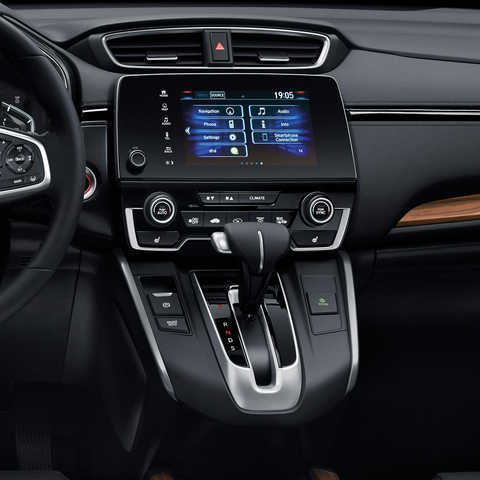 Bočný pohľad na 7-palcový multimediálny systém modelu Honda CR-V.