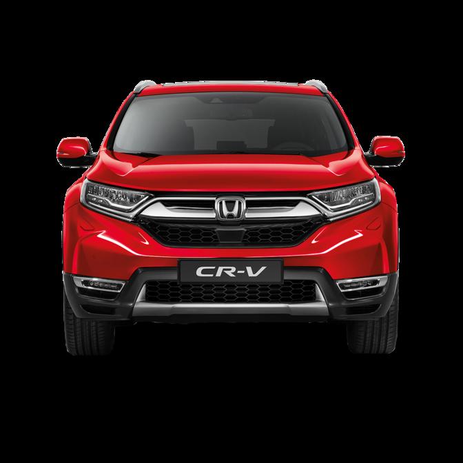 Pohľad spredu na model Honda CR-V.