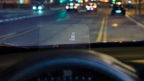 Detailný záber na zobrazovací displej modelu Honda CR-V.