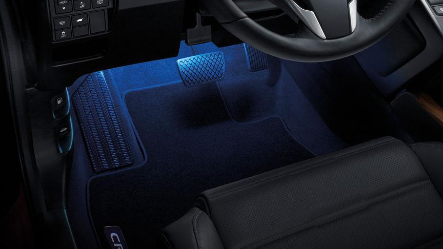 Detailný záber na model Honda CR-V sbalíkom osvetlenia.