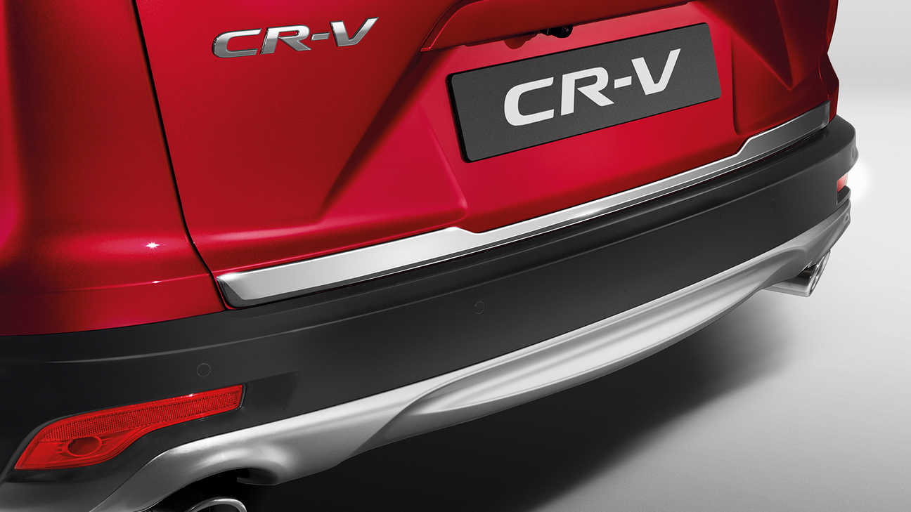 Detailný záber na ozdobné prvky batožinového priestoru modelu Honda CR-V.