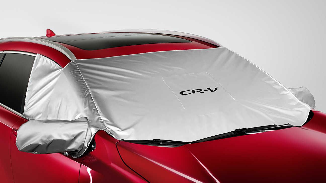 Bočný pohľad na kryt čelného skla modelu Honda CR-V.