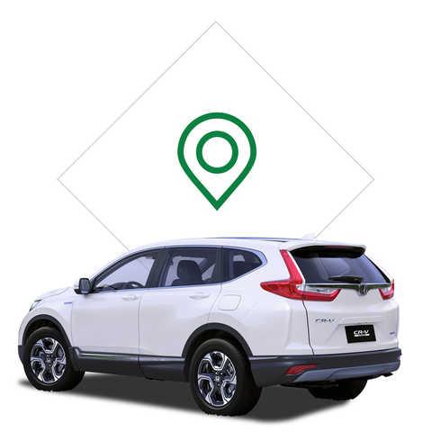 Ikona vyhľadania predajcu modelu Honda CR-V Hybrid.
