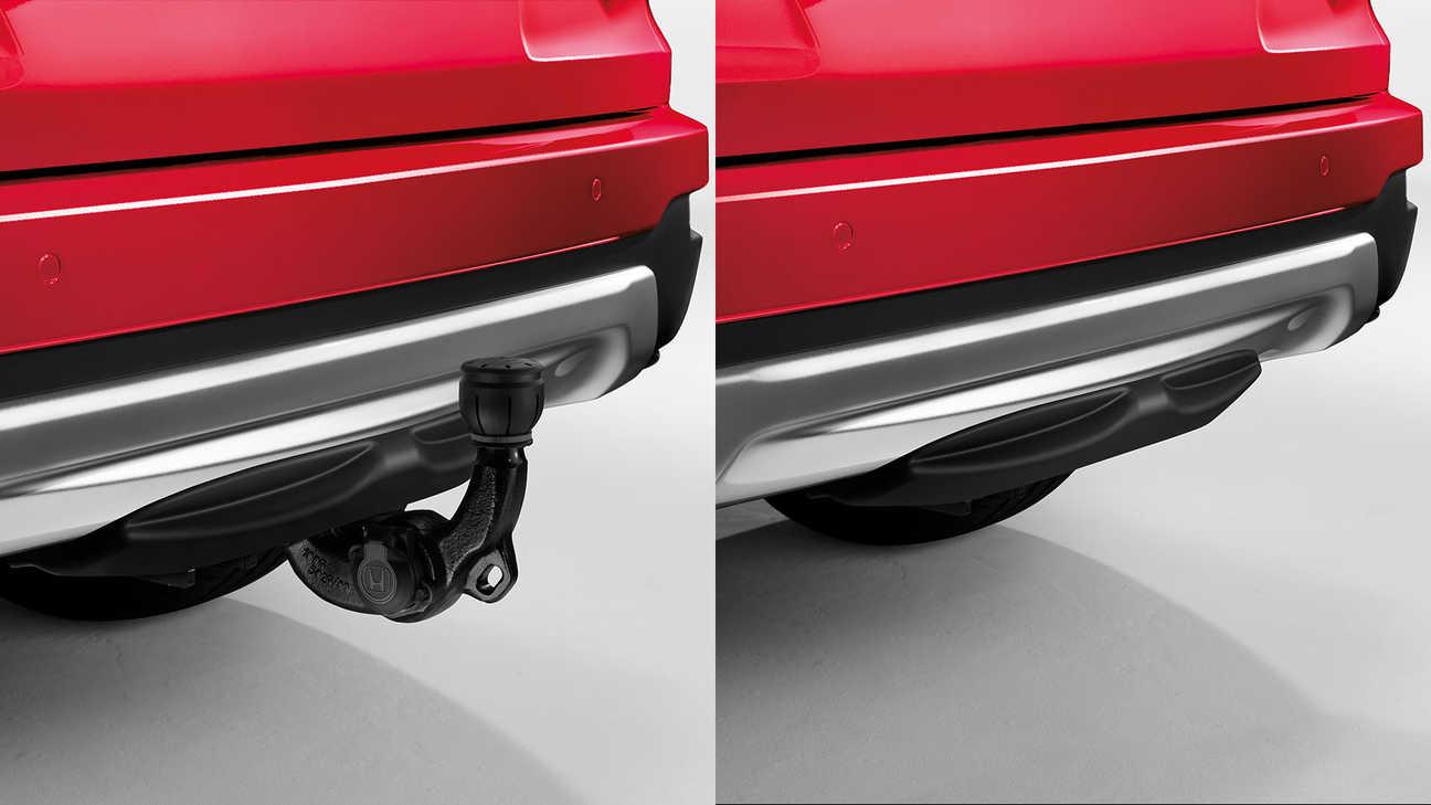 Zadný záber na zasúvateľné ťažné zariadenie s13-kolíkovým pripojením prívesu modelu CR-V Hybrid.