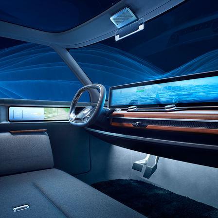 Detailný záber na model Honda Clarity Fuel Cell.