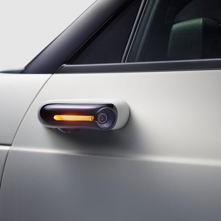 Detailný záber prahu dverí prototypu Honda.