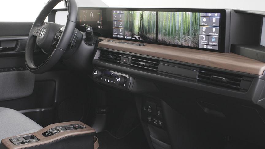 Close up of Honda e interior screen.