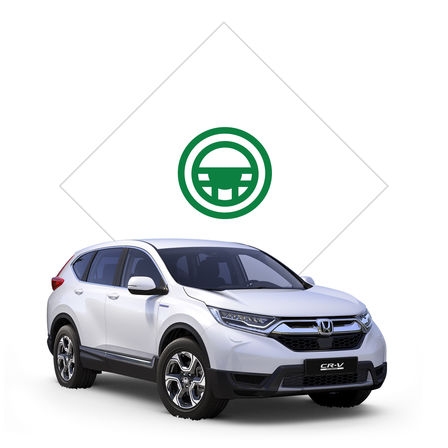 Obrázok dealera produktov Honda s obrázkom modelu Jazz, pohľad spredu