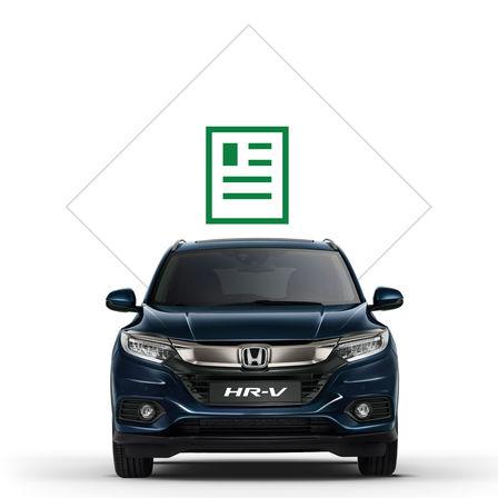 Obrázok modelu Civic Hatchback, pohľad spredu s ikonami nástrojov