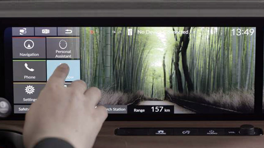 control screen on dashboard