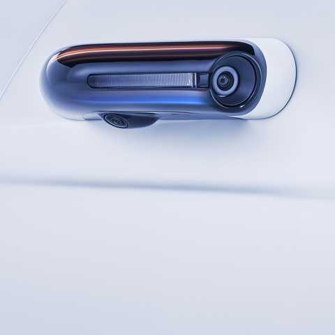 Detailný záber na vozidlo Honda e.