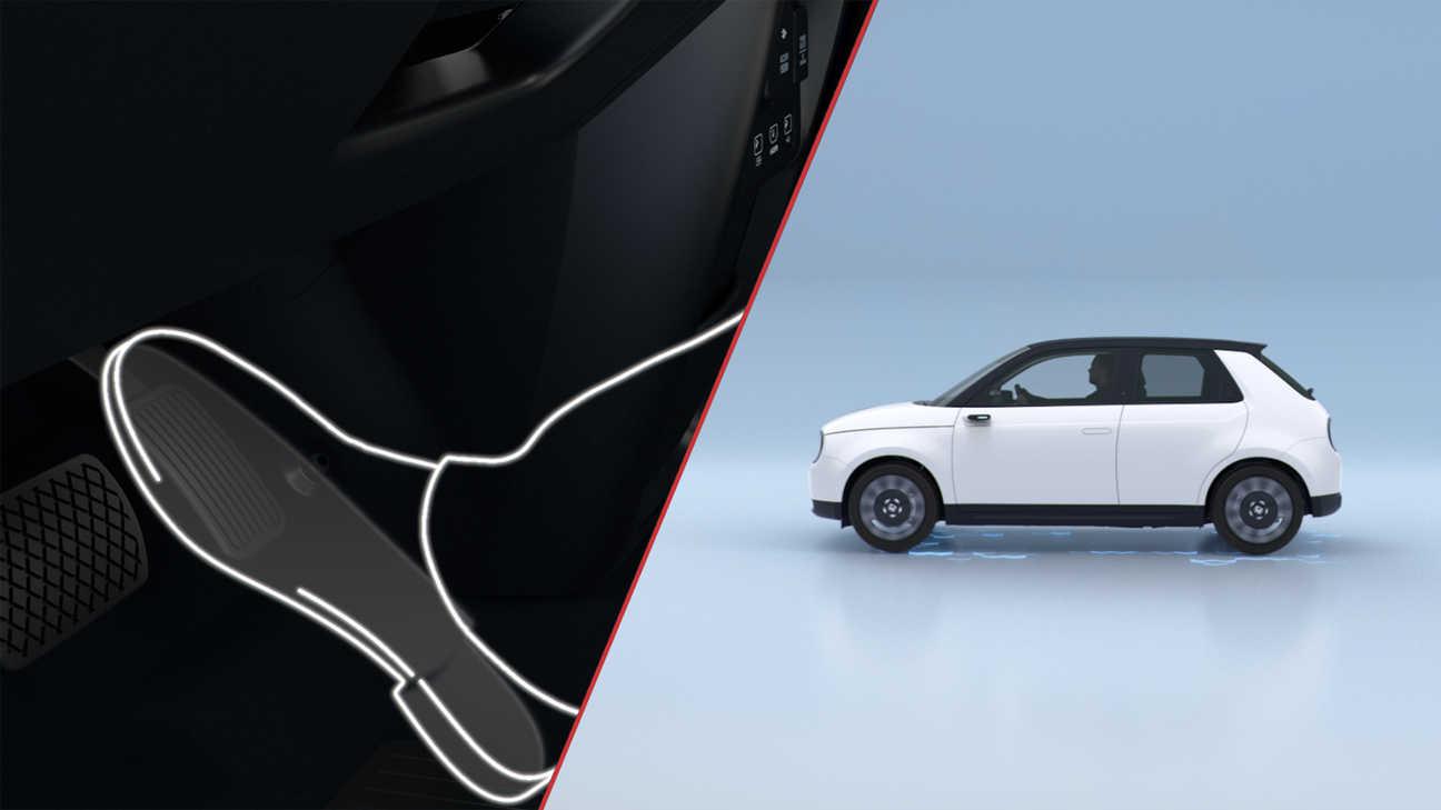 Still from Honda video to show steering.