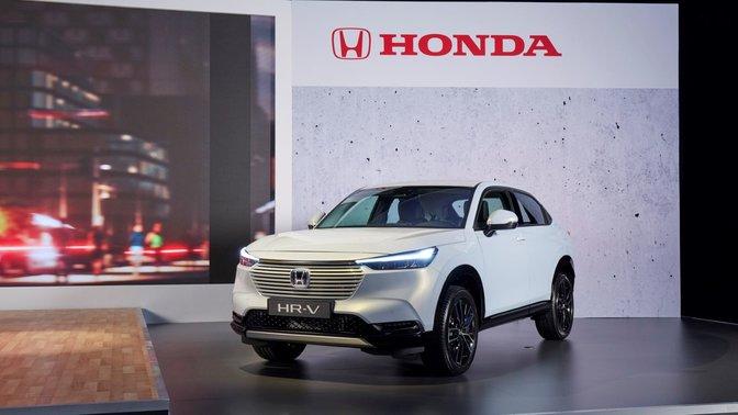 Predný trojštvrťový pohľad na model Honda HR-V Hybrid