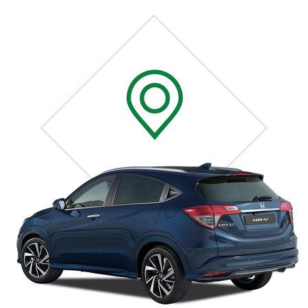 Honda HR-V dealer illustration.