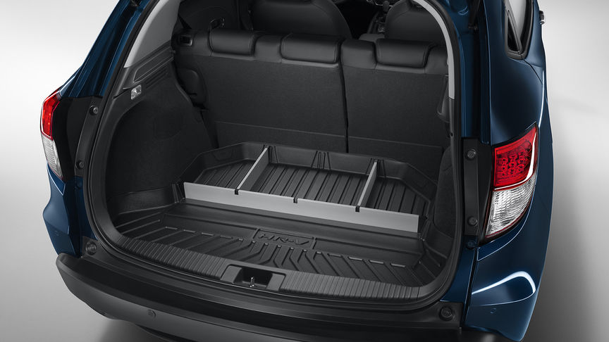 Close up of Honda HR-V boot tray dividers.