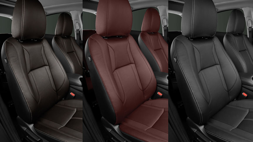 Honda CR-V interior leather upholstery colour options.