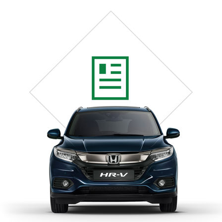 Ilustrácia modelu Honda HR-V zkatalógu.