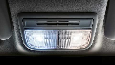 Detailný záber na interiérové svetlo LED modelu Honda Jazz.