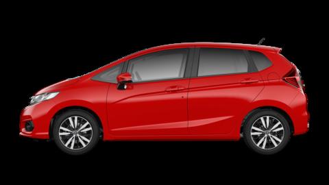 Bočný pohľad na model Honda Jazz Dynamic.