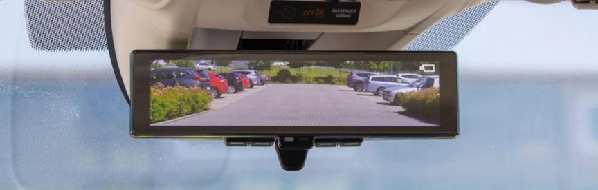 Honda e rear view mirror.