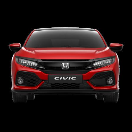 Predný pohľad na Hondu Civic.