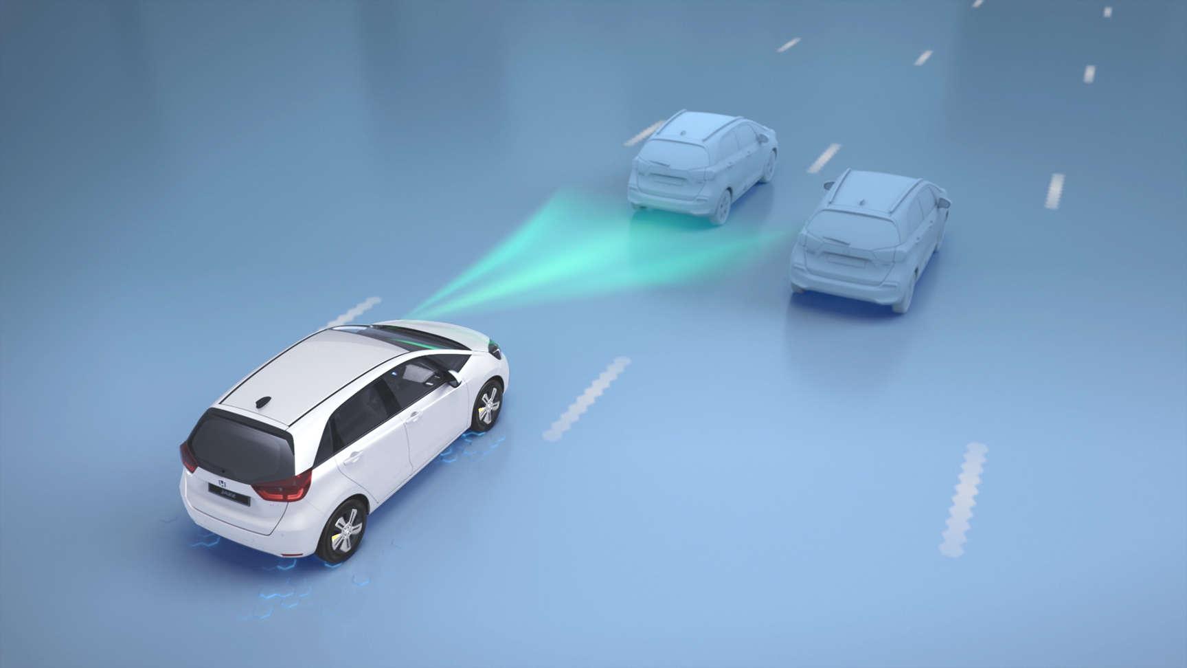 Vozidlo Honda prechádza okolo značky s obmedzením rýchlosti a rozpoznáva ju