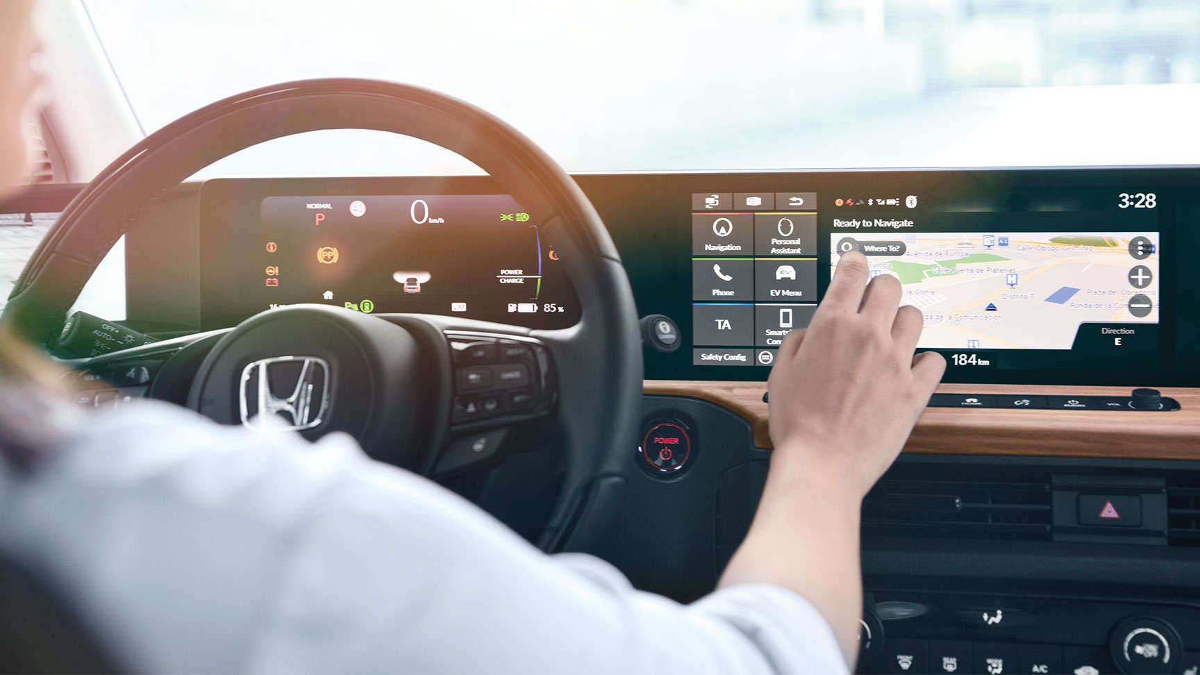 Vodič používajúci obrazovku GPS