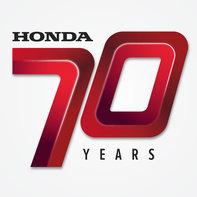 Logo sedemdesiateho výročia spoločnosti Honda.