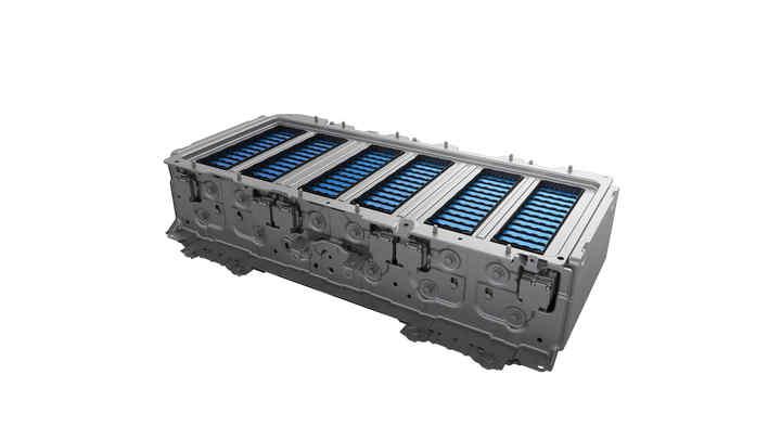 Detailný záber na lítium-iónový akumulátor hybridného systému Honda.