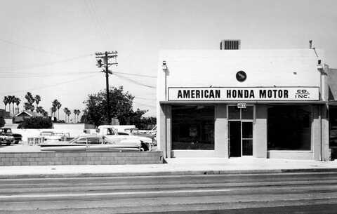 Historický záber spoločnosti Honda Motor Co. v Los Angeles.