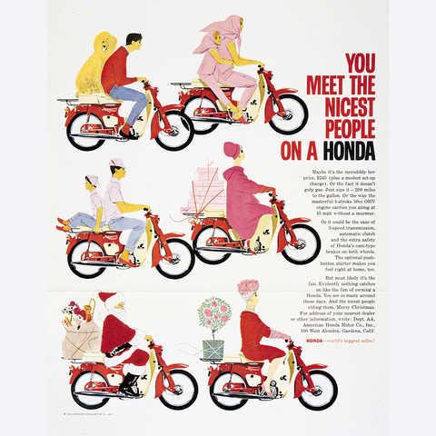 Reklamný slogan motocykla Honda Super Cub.