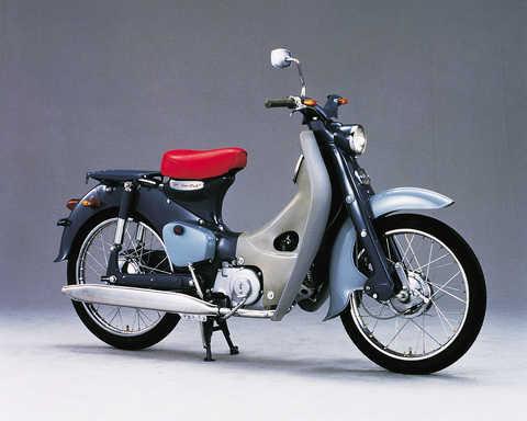 Pohľad spredu na model Honda Super Cub.