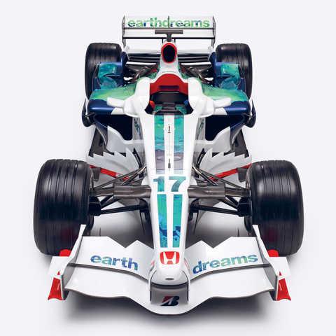 Výrez automobilu Honda Earth Dreams Formula One.