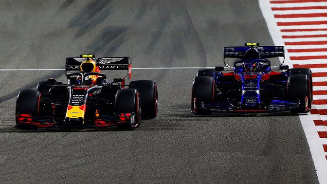 Formula 1 front view racing cars.