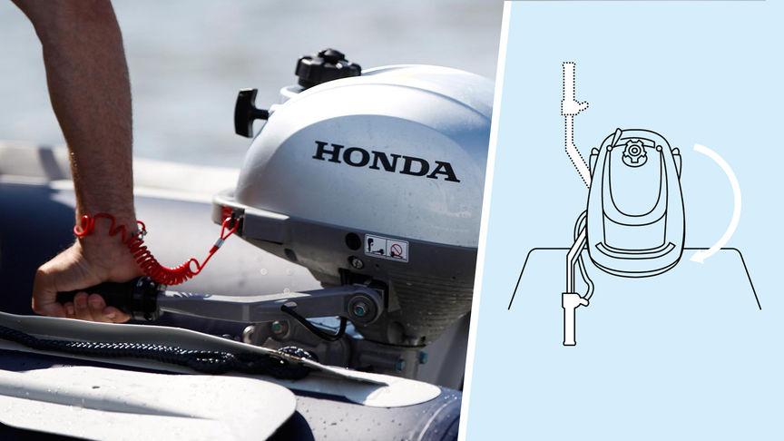Ilustrácia znázorňujúca pohyb motora doplnená o fotografiu reálnej ukážky.