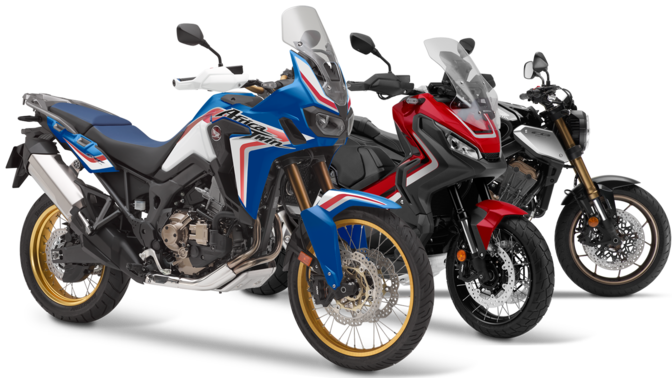 Sortiment motocyklov Honda