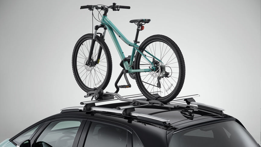Detailní záber na nosič bicyklov pre model Honda Jazz Hybrid